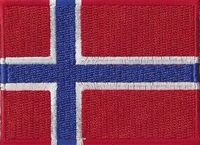 Noorwegen, applicatie opstrijkbaar, 83mm x 58mm