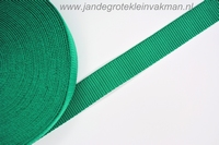 Koppelband, donkergroen, 30mm, prijs per meter