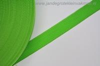 Koppelband, groen, 25mm, prijs per meter