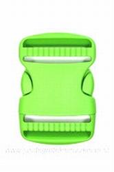 Insteekgesp, kunststof, groen, 50mm