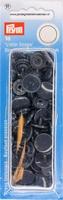 Prym Color Snaps, rond, kunststof, donkerblauw, 30 stuks