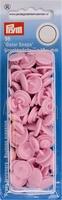 Prym Color Snaps, rond, kunststof, roze, 30 stuks