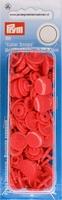 Prym Color Snaps, rond, kunststof. rood, 30 stuks
