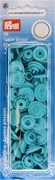 Prym Color Snaps, rond, kunststof. turquoise, 30 stuks