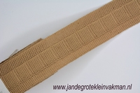 Gordijn plooiband, kleur 017 (beige), 30mm breed, per mtr
