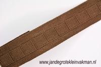 Gordijn plooiband, kleur 008 (bruin),30mm breed, per mtr
