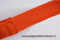 Gordijn plooiband, kleur 024 (oranje), 30mm breed, per mtr