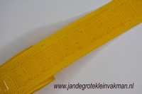 Gordijn plooiband, kleur 019 (geel), 30mm breed,  per mtr