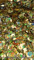 Kunststof pailletten, 10mm met zeskantig facet, ca. 20 gram