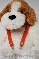 Kinderbretel 25mm breed, effen, oranje