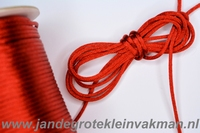 Satijnkoord, kleur 158, 2,5mm rond, per 3 meter, rood