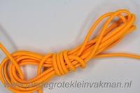Koordelastiek, 3mm, per meter, oranjegeel, prijs per meter