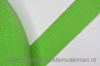 Tassenband, groen, zware kwaliteit, 30mm breed, per meter