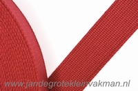 Tassenband, cerise, zware kwaliteit, 30mm breed, per meter