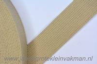Tassenband, beige, zware kwaliteit, 30mm breed, per meter