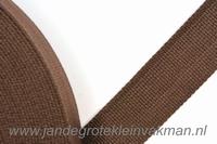 Tassenband, bruin, zware kwaliteit, 30mm breed, per meter