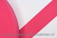 Tassenband, roze, zware kwaliteit, 30mm breed, per meter