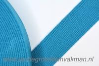 Tassenband, l-blauw, zware kwaliteit, 30mm breed, per meter