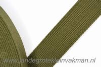 Tassenband, army, zware kwaliteit, 30mm breed, per meter