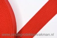 Tassenband, rood, zware kwaliteit, 30mm breed, per meter
