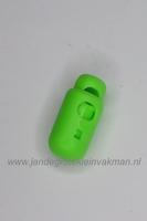 Kunststof koordstopper, ca. 26mm x 12mm, fluorgroen
