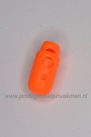 Kunststof koordstopper, ca. 26mm x 12mm, fluor oranje