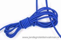 Koordelastiek, 3mm, per meter, koningsblauw, prijs per meter