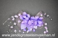 Haarscorsage, paars, basis ca. 260mm x 70mm