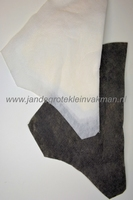 Mantelvulling wit, gest. vlieseline ca. 30mm hoog,  2 stuks