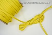 Paracord (parakoord) geel, 4mm dik, citroengeel, per mtr