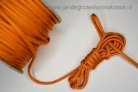 Paracord (parakoord) oranje, 4mm dik, per meter