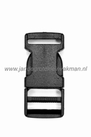 Paracord sluiting, pvc, zwart, 20mm x 42mm
