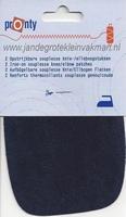 Pronty opstrijkbare kniestukken, marine, 2 stuks