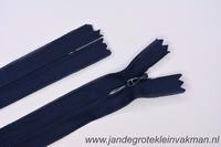 Blinde rits, 22cm, kleur 058, marineblauw
