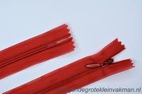 Blinde rits, 50cm, kleur 519, rood