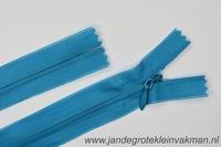 Blinde rits, 50cm, kleur 033, turqoise