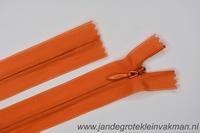 Blinde rits, 60cm, kleur 523, oranje