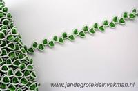 Sier- of afwerkband, ca. 12mm breed, per meter, groen