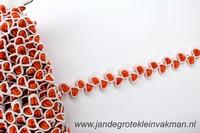 Sier- of afwerkband, ca. 12mm breed, per meter, oranje
