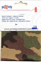 Pronty opstrijkbaar reparatiedoek, camouflage grof