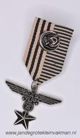 Fantasie medaille, beige-bruin, ca. 80mm lang