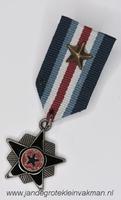 Fantasie medaille, blauw-lichtblauw-wit-rood, ca. 80mm lang