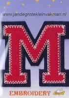 Dubbele letterapplicatie, letter M