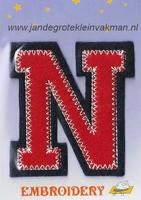 Dubbele letterapplicatie, letter N