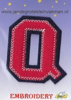 Dubbele letterapplicatie, letter Q