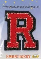 Dubbele letterapplicatie, letter R