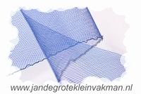 Crinolinestof, blauw, circa 80mm breed, per meter