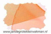 Crinolinestof, oranje, circa 80mm breed, per meter