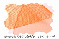 Crinolinestof, oranje, circa 35mm breed, per meter