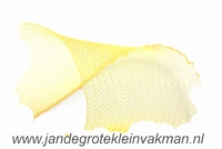 Crinolinestof, geel, circa 35mm breed, per meter